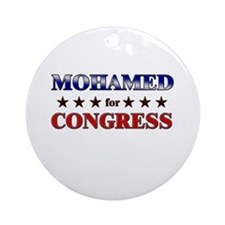 MOHAMED for congress Ornament (Round)