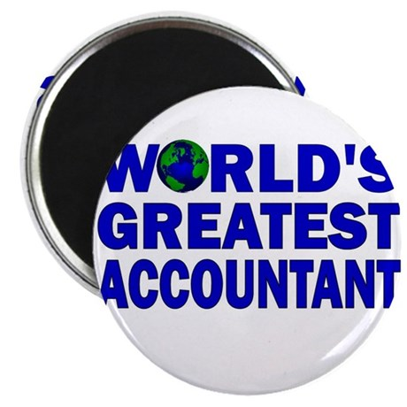 """World's Greatest Accountant 2.25"""" Magnet (100 pack"""