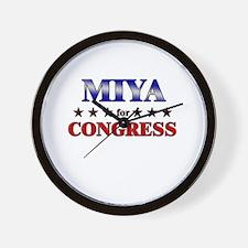 MIYA for congress Wall Clock