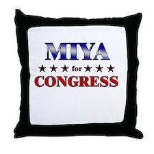 MIYA for congress Throw Pillow