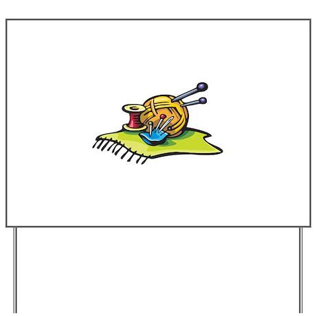 Knitting Supplies Design Yard Sign
