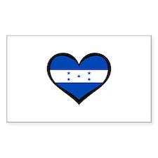 Honduras Love Rectangle Decal
