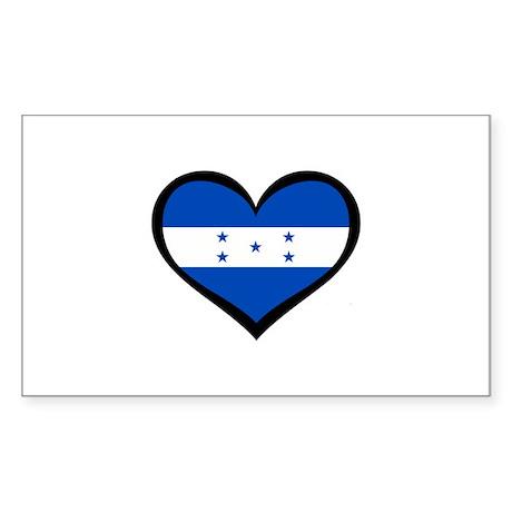 Honduras Love Rectangle Sticker