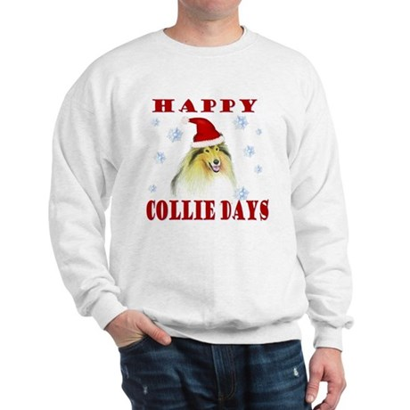 Happy Collie Days Christmas Sweatshirt