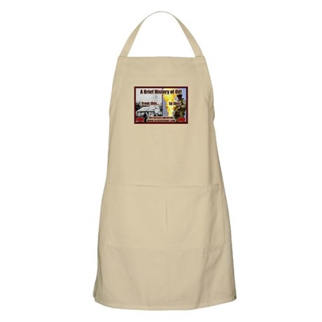 History Of Oil BBQ Apron