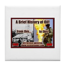 History Of Oil Tile Coaster