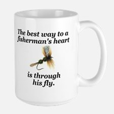 "Large ""Way to a Fisherman's Heart"" Mug"