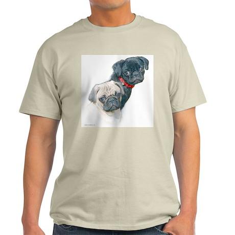 Two Pugs Ash Grey T-Shirt