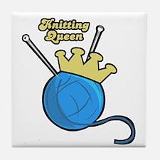 Knitting Queen Tile Coaster