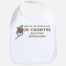 God Created Deerhounds Bib