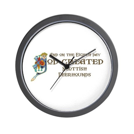 God Created Deerhounds Wall Clock