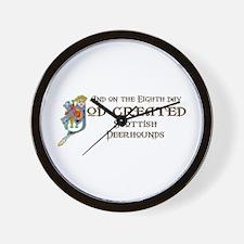 God Created Deerhounds Wall Clock