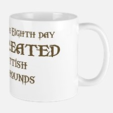 God Created Deerhounds Mug