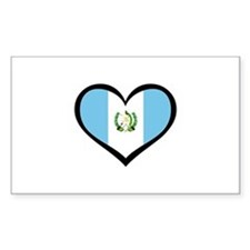 Guatemala Love Rectangle Decal