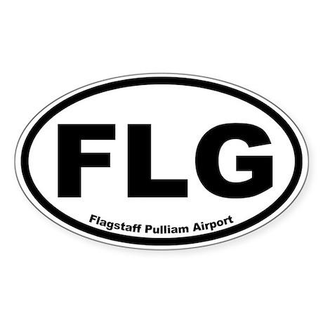 Flagstaff Pulliam Airport Oval Sticker