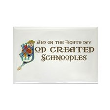 God Created Schnoodles Rectangle Magnet (100 pack)