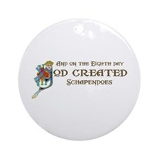 God Created Schapendoes Ornament (Round)