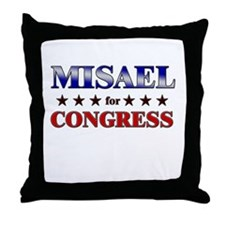 MISAEL for congress Throw Pillow