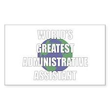 World's Greatest Administrati Sticker (Rectangular
