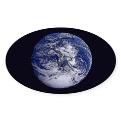 Earth (oval bumper sticker)