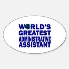 World's Greatest Administrati Oval Decal