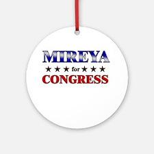 MIREYA for congress Ornament (Round)