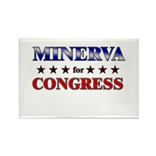 MINERVA for congress Rectangle Magnet
