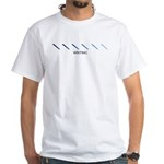 Writing (blue variation) White T-Shirt