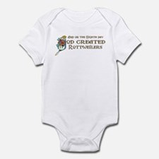 God Created Rottweilers Infant Bodysuit