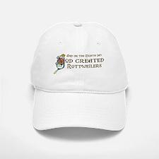 God Created Rottweilers Baseball Baseball Cap