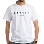 Womens Volleyball (blue varia White T-Shirt
