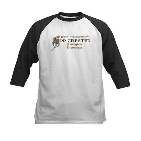 God Created Pyreneans Kids Baseball Jersey