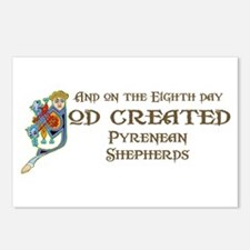 God Created Pyreneans Postcards (Package of 8)