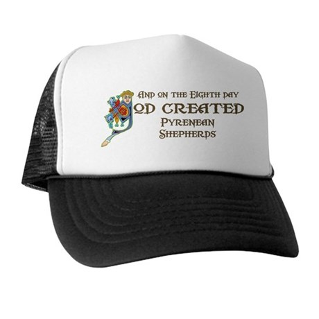 God Created Pyreneans Trucker Hat