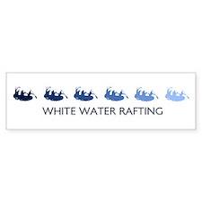 White Water Rafting (blue var Bumper Bumper Sticker