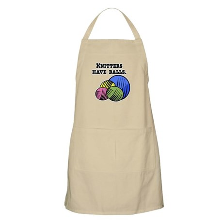 Knitters Have Balls! BBQ Apron