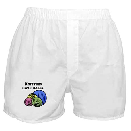 Knitters Have Balls! Boxer Shorts