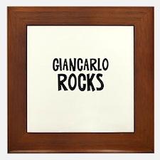 Giancarlo Rocks Framed Tile