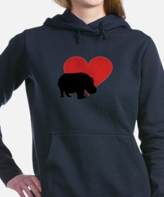 Hippo Women's Hooded Sweatshirt