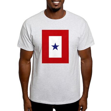 Blue Star Flag Ash Grey T-Shirt