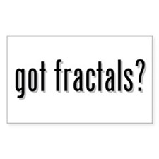 got fractals? Rectangle Decal