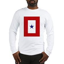 Blue Star Flag Long Sleeve T-Shirt