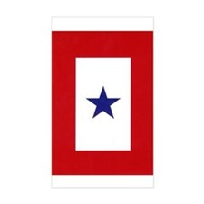 Blue Star Flag Rectangle Decal
