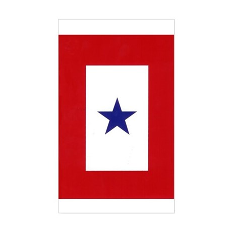 Blue Star Flag Rectangle Sticker