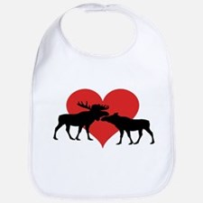 Moose Bull and Cow Bib