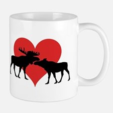 Moose Bull and Cow Mugs