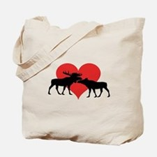 Moose Bull and Cow Tote Bag