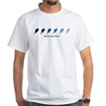 Speed Skating (blue variation White T-Shirt