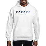 Speed Skating (blue variation Hooded Sweatshirt