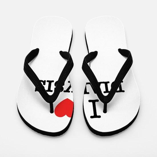 I Love DIALYSIS Flip Flops